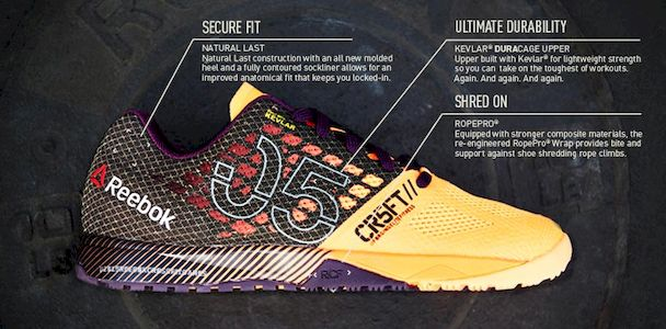 best material for crossfit shoes