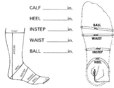 shaft measurement of the crossfit shoes