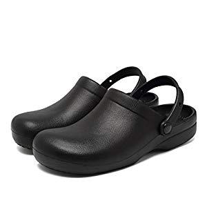 Fanture Slip Resistant Chef Clog Mule Restaurant Non Slip Work Shoes