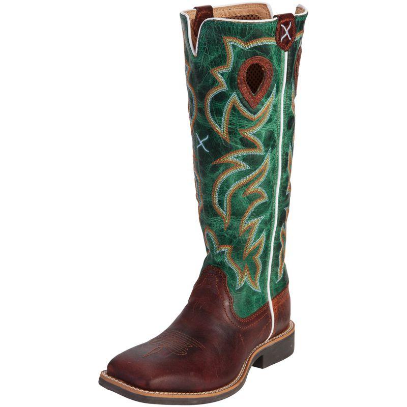 Twisted X Boys' Turquoise Buckaroo Cowboy Boots